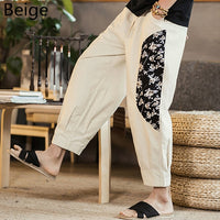Hawaiian Ethnic Men's Pants Women Loose Summer Hiphop Harem Trousers Ankle-Length Patchwork Joggers Casual Pants Big 5XL Hombre