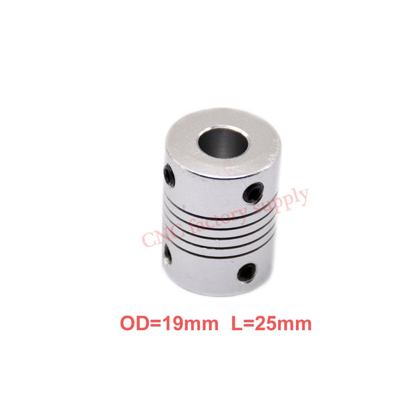 1pcs 5x8mm CNC Motor Jaw Shaft Coupler 5mm To 8mm Flexible Coupling OD 19x25mm wholesale Dropshipping 3/4/5/6/6.35/7/8/10mm