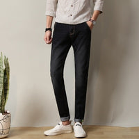 FAVOCENT brand high quality zipper washed men's jeans 2018 spring free shipping new Korean version of Slim men's jeans trousers