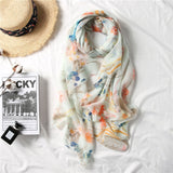 Elegant ethnic silk fabric glamorous texture high-grade temperament spring and autumn simple fashion ladies scarf