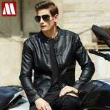 2018 New fashion autumn winter men leather jacket brand clothing motorcycle jacket quality male leather coat mens fleece jackets