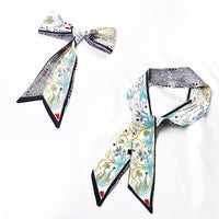 Fashion printed silk fabric charming texture high-grade temperament spring and autumn simple fashion ladies scarf