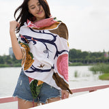 Chinese style fashion printed fabric charming texture high-grade temperament spring and autumn simple fashion ladies scarf shawl