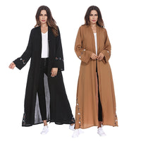 abaya islamic long dress for muslim turkish dress cotton hijab Jellab Abai turkish women clothing Djellaba Robe Dress