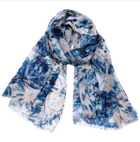 Autumn and winter version of cotton and linen scarf female large long paragraph printed shawl scarf dual  scarf