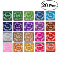 20 Pcs Multi-colored Giant Ink Pads Stamp Pads for DIY Craft Scrapbooking Finger Paint Ink Pad Set