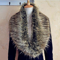 Coat For Winter Women Shawl Fur Collar paragraph Wrap Collar Faux Warm Your Outwear Collar Fur Special Shrug Scarf