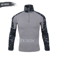 Men Military Tactical T-shirt Long Sleeve SWAT Soldiers Combat T Shirt Airsoft Clothes Man's US Army Shirts No Pads XS-XXXL