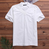 Collarless Shirt Chinese Style Linen Shirt Men Slim fit Casual Dress Shirts Men Summer Shirt Short Sleeve Mens camisa masculina