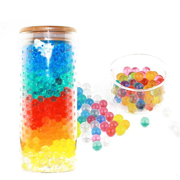 5000 PCS/ Pack Six Colors 0.7-0.8 CM Crystal Water Beads Jelly Gel Balls Toys