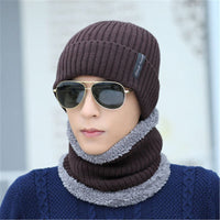 2017 Winter Face Mask Cap Neck Warmer Balaclave Hat Mens Skullies Beanies Cap Scarf Sets Fashion Fleece Beanie Knitted Hats