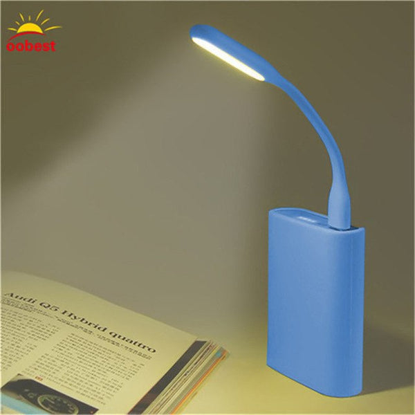1PC Flexible Mini USB LED Light Portable For XIAOMI Power bank Notebook PC table Reading lights Protect Gadget TSLM1