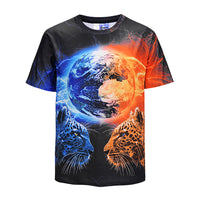 Cool T-shirt 3D T-shirt Print Leopard Short Sleeve Summer Tops Tees Tshirt Fashion Animal Print Shirt