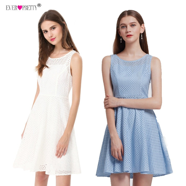 Short Party Dress For Graduation Ever Pretty AS05504 2018 New Fashion Round Neck Sleeveless Simple Homecoming Dresses Above Knee