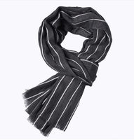 2018 Fashion Women Winter Scarf  Women Scarves Striped Warm Cashmere Scarves Fashion Bussiness