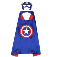 2017 new children's cartoon hero cloak custom double Halloween Superman cloak two-piece cloak