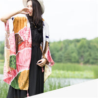 2018 new Spring and Autumn Candy Color Simple Fashion Lady Scarf Shawl Silk Fabric Charming Texture High-grade Temperament