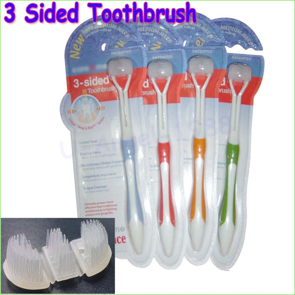 1pcs Three sides toothbrush ultrafine soft-bristle adult toothbrush