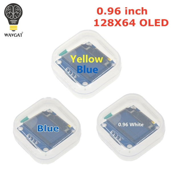 WAVGAT Blue White color 128X64 Yellow Blue OLED LCD LED Display Module For Arduino 0.96 inch I2C IIC Serial new original