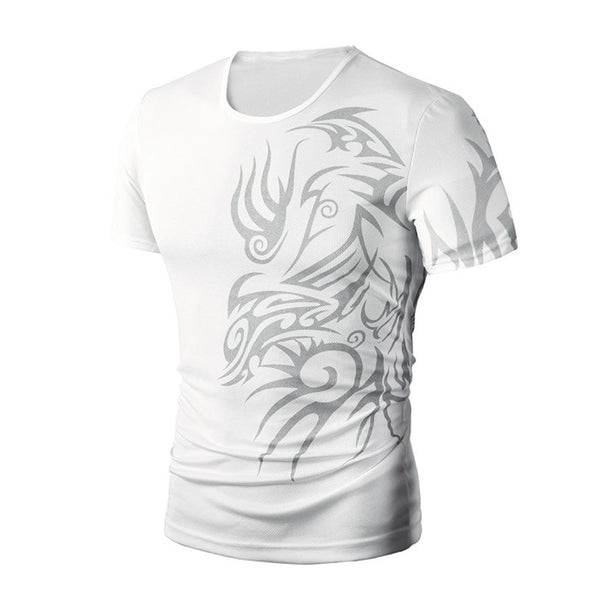 Men Summer Fashion Printing Men's Short-sleeved T-shirt