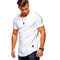 Men's Casual Slim Fit Short Sleeve T-shirts Cotton Round Collar Shirts