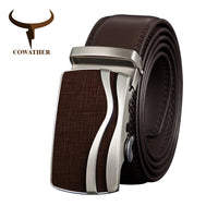 COWATHER Men Belt Cow Genuine Leather Male Strap Cowhide Belts for Men Alloy Buckle Newest Arrival Fashion Male Waistband CZ127