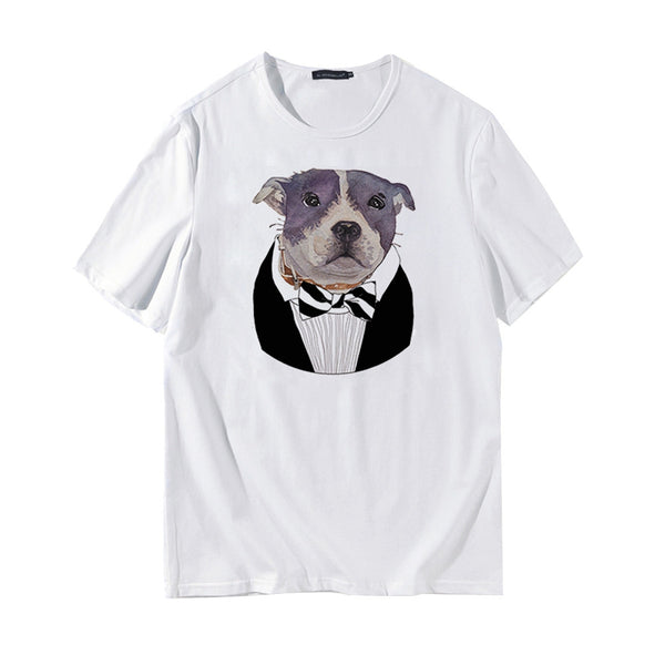 Fashion Digital Animal Doggy Printing Short-sleeve T-shirt Summer Tops Graphic Tees for Students Youngsters