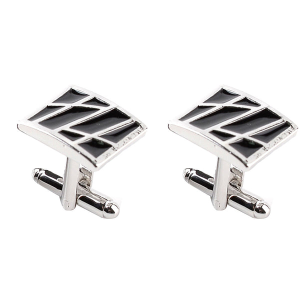 2pcs Men Square Cufflinks High-end Business-style Cuffs White Shirt Accessories Wedding Gifts Black Series Classic Steady Cuff Links