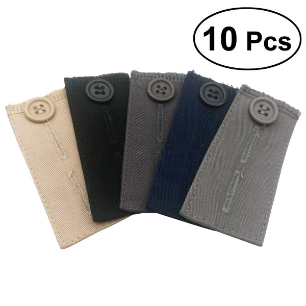10pcs 2 Types Pants Waist Extenders for Pants Jeans Pregnant Trousers