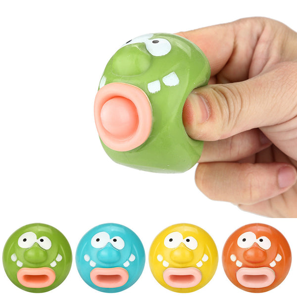 Emoji Emoticon Toy Pop Out Tongues Novelty Fun Little Tricky Prank Squeeze Toy