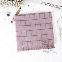 Autumn and winter British style lattice tassel the new hot women's elegant generous simple temperament noble elegant scarf