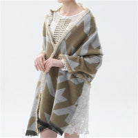 Autumn and winter British style Houndstooth pattern the new hot women's elegant generous simple temperament noble elegant scarf