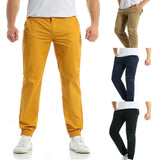 Fashion Men's  Casual  Drawstring Zipper Bunch Of Foot Pure Color Pant