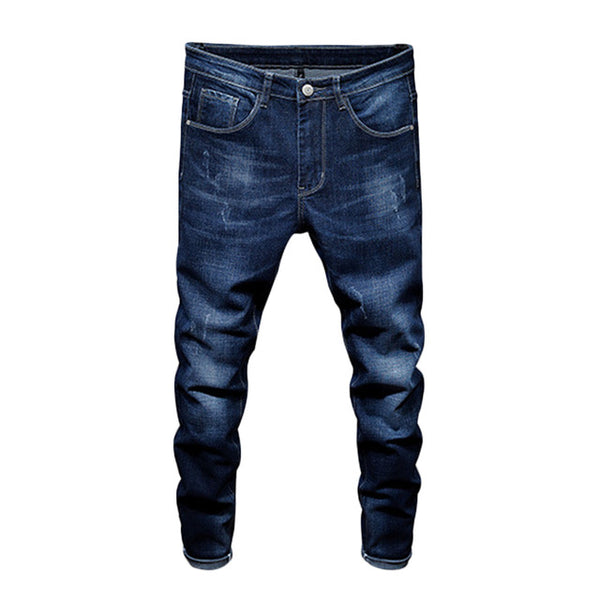 2018 Spring And Summer New Men's Jeans Elastic Jeans Fashion Teenage Thin Long Trousers Quality Male Outwear Jeans D79