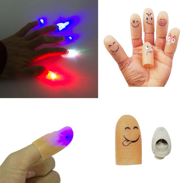 Emoji Emoticon LED Finger Light Rings Glow Kids Children Party Favors Glow Toys