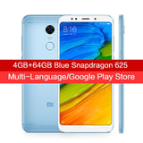 "In Stock Global Version Xiaomi Redmi 5 Plus 4GB 64GB Smartphone 5.99"" Full Screen Snapdragon 625 12.0MP Camera 4000mAh MIUI 9 CE"