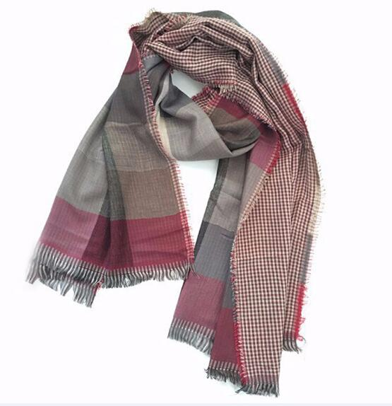 2018 Autumn Winter Female Wool Plaid Scarf Women Cashmere Scarves Wide Lattices Long Shawl Wrap Blanket Warm  Drop Ship