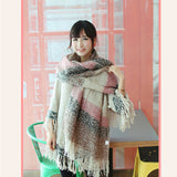 2018 Fashion Scarf Women Tassels Scarves Wraps Autumn Winter Blanket Shawls plaid scarves