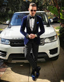 New Ivory Men's Suit with White Shawl Collar Black Pants Groom Tuxedos 2 Pieces( Jacket+Pants) Groomsmen Best Men Wedding Suit