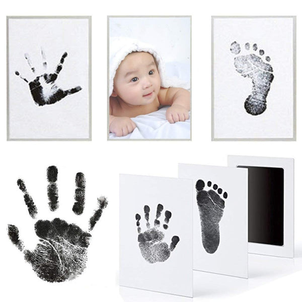Footprint Imprint Kit Baby Ink Pad Storage Memento Ink Newborn Baby Souvenir Drawer Inkless Handprint Casting Photo Frame Kits