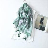 Chinese style the new hot selling high quality in women's scarves simple fashionable elegant Ethnic leaf pattern scarves