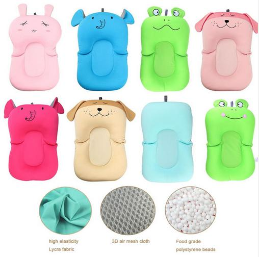 Newborn Baby Cartoon Safety Bathtub Pad Seat Infant Shower Support Cushion Non-Slip Security Soft Baby Bath Pad drop shipping