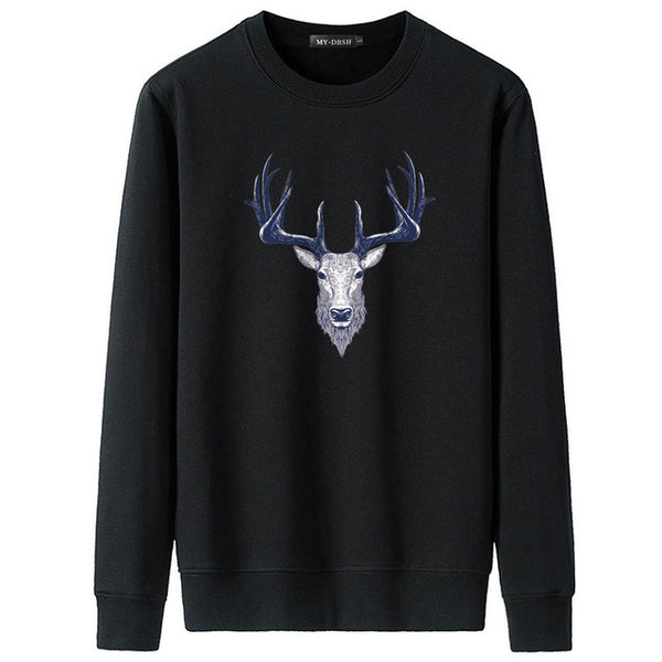 2018 New Fashion Sweatshirts Men/Women Casual Hoodies Print forest deer animal pattern Unisex Stylish Hooded Funny Cool Men Coat