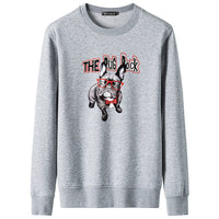2018 Hot Sale Hip Hop Hoodies Pug Rock Printed Sweatshirts Fashion Harajuku Men Cool Casual Dog Print Pullover Plus Size XS~4XL