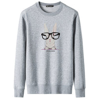 Funny glasses rabbit Men Hoodies Couples Casual Style Cartoon Printed Hoodie Hip Hop Autumn Winter Sweatshirts Hooded Tracksuits