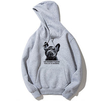 Brave French Bulldog Print Men's sweatshirts Hoodie Autumn Winter Fleece Warm Sweatshirt Pullover Men Casual Drawstring Hoodies