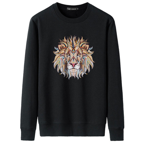 New fashion print hooded shirts men/women cotton hoodies Casual lion graphic hoodie funny mens sweatshirts Hipster pullover tops