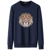 2018 Fashion Hipster Cartoon Lion Printed Hoodies Men/Women Casual Hooded Pullover Autumn Winter Fleece Hooded Sweatshirts Tops