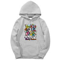 Fashion Brand Streetwear Men 2018 Autumn Men's Graffiti Hoodies Funny print Sweatshirts Cotton Casual Male Round neck Pullovers