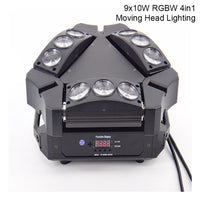 Fast Shipping Mini LED Beam Spider 8x10W RGBW Moving Head Lighting LEDSpider Light LED Party DJ Beam Moving Head Light